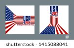 american flag vector background.... | Shutterstock .eps vector #1415088041