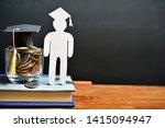 human model graduation set on... | Shutterstock . vector #1415094947