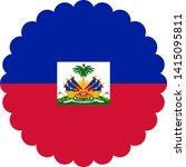 haiti flag illustration vector... | Shutterstock .eps vector #1415095811