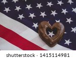 Heart Shaped Biscuits And Usa...