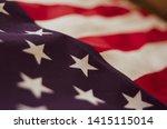 Close Up Of Usa Flag   Memorial ...