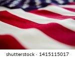 Close Up Of Usa Flag   Memoria...