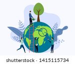 earth day with world  eco... | Shutterstock .eps vector #1415115734