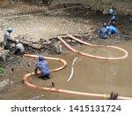 construction to remove sediment ...   Shutterstock . vector #1415131724