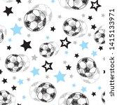 football balls and stars...   Shutterstock .eps vector #1415133971