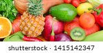 background of collection fresh... | Shutterstock . vector #1415142347