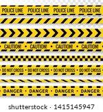 crime line tape. police danger... | Shutterstock .eps vector #1415145947