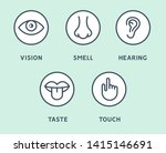 five human senses vision eye ... | Shutterstock .eps vector #1415146691