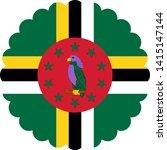 flag dominic illustration... | Shutterstock .eps vector #1415147144