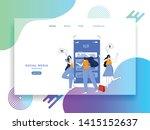 web template shopping online... | Shutterstock .eps vector #1415152637