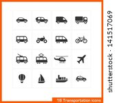 transportation icons set.... | Shutterstock .eps vector #141517069