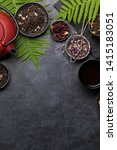 set of different herbal and... | Shutterstock . vector #1415183051