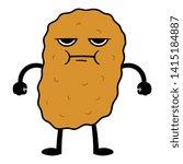 angry cartoon chicken nugget... | Shutterstock .eps vector #1415184887