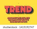 vector trend font 3d bold style ... | Shutterstock .eps vector #1415192747