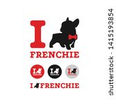 I Love Frenchie Pet Logo