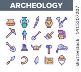 archeological tools and... | Shutterstock .eps vector #1415207207