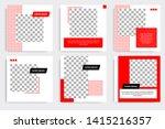 editable square frame banner... | Shutterstock .eps vector #1415216357