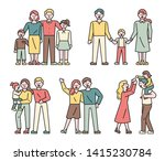 families of various members.... | Shutterstock .eps vector #1415230784
