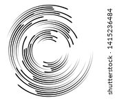 speed lines in circle form .... | Shutterstock .eps vector #1415236484