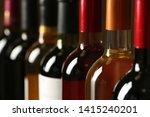 bottles of different wines ... | Shutterstock . vector #1415240201