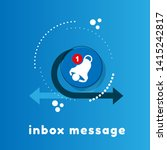 notification bell icon for...   Shutterstock .eps vector #1415242817