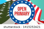 open primary election on a usa...   Shutterstock . vector #1415252621