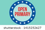 open primary election on a usa...   Shutterstock . vector #1415252627