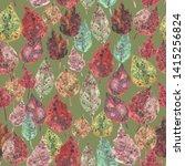 seamless pattern watercolor... | Shutterstock . vector #1415256824