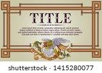 template advertisements  flyer  ... | Shutterstock .eps vector #1415280077