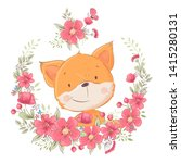Postcard Poster Cute Little Fo...