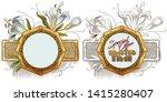 vector plant vignette for... | Shutterstock .eps vector #1415280407