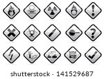 isolated vector gray scale... | Shutterstock .eps vector #141529687