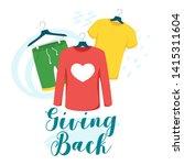 clothes giving back vector... | Shutterstock .eps vector #1415311604