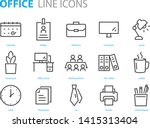 set of office icons  such as... | Shutterstock .eps vector #1415313404