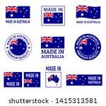 made in australia labels set ... | Shutterstock .eps vector #1415313581
