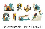 collection of young romantic... | Shutterstock . vector #1415317874