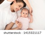 portrait of mother with her... | Shutterstock . vector #1415321117