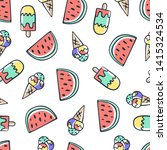 hand draw doodle ice cream and...   Shutterstock .eps vector #1415324534