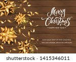merry christmas and happy new... | Shutterstock .eps vector #1415346011