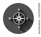 global navigation icon in flat... | Shutterstock .eps vector #1415353394