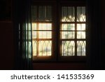 Sunlight Through Paned Window