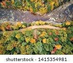 Swift River Landscape At Autum...