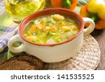 vegetable soup | Shutterstock . vector #141535525