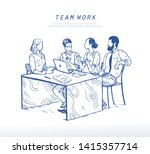 vector illustration of office...