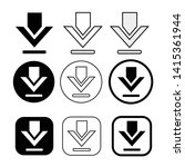 set of simple sign download icon   Shutterstock .eps vector #1415361944