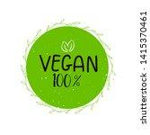 eco  bio green logo or sign....   Shutterstock . vector #1415370461