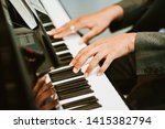 man hands on grand piano for... | Shutterstock . vector #1415382794