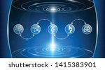 abstract background technology... | Shutterstock .eps vector #1415383901