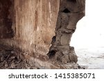 Section Of Broken Concrete...