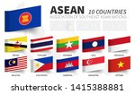 asean . association of... | Shutterstock .eps vector #1415388881